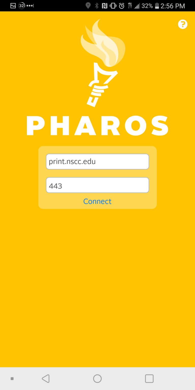 Pharos Android connection